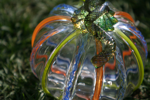 Glass act: MIT Great Glass Pumpkin Patch 2011 - Saturday, Oct. 1st, 10 - 3 pm, Kresge Oval at MIT in Cambridge, Massachusetts.