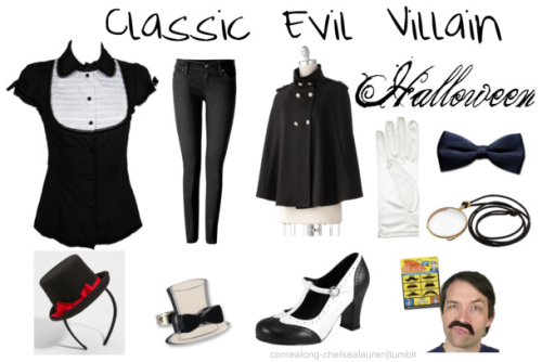 Classic Evil Villain | Halloween - Click here! Also, these might come in handy: Make your own monocle Make your own bow tie