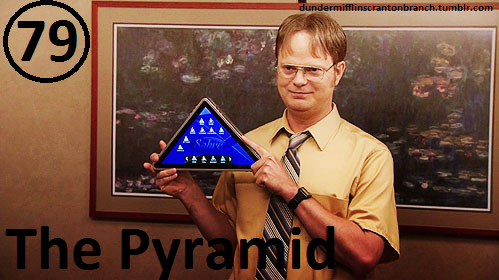 Great Things About The Office - #79 - The Pyramid  Sabre's tablet.