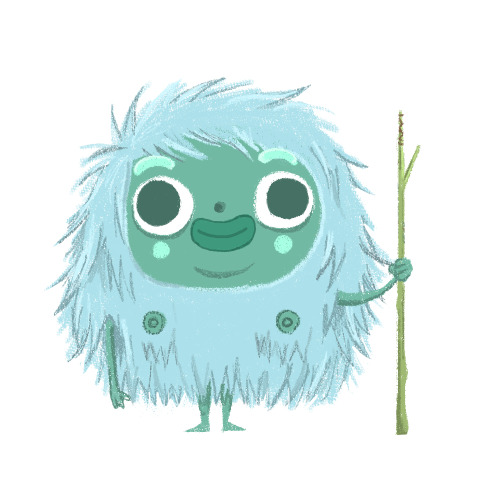 I'm doing a yeti for the pictoplasma missing link project that they re-opened. Don't think this is the one, just experimenting with the cool brushes that everyone seems to be using but I don't think i've done very well. :(