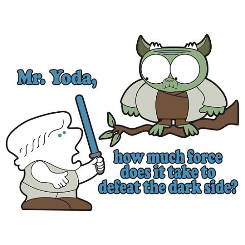 albotas:  Mr. Yoda, how much force does it take to defeat the dark side? The galaxy may never know. New tee from Famousafterdeath available HERE.