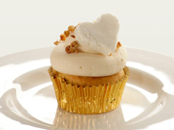 sidesplitter:  Sweet Potato Cider Cupcake with Marshmallow Frosting. Perfect recipe for this time of the year.