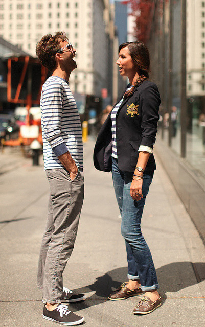 the-streetstyle:  Will & Lauren - navy (good) mood via thelisbontailor