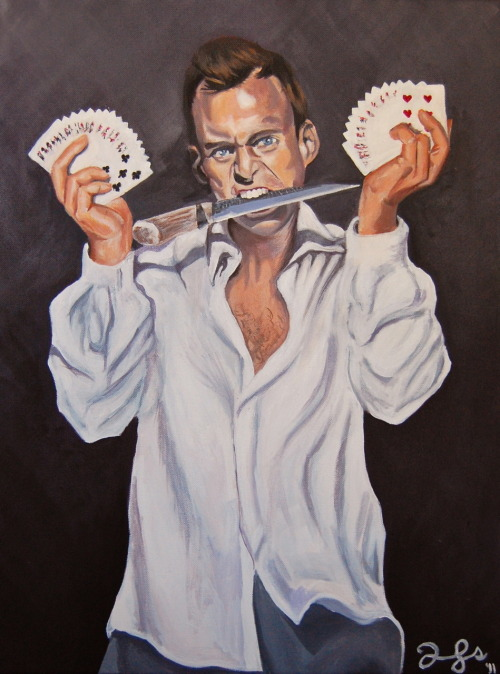 "thebluthcompany:  Please forgive me if I've submitted before. I painted Gob in the style of ""The Kramer"" and I thought you all might enjoy it.  I have prints of the piece available here, just in case anyone might care for a copy on their wall.  I'm over at http://emilybjones.tumblr.com/. Follow me!"