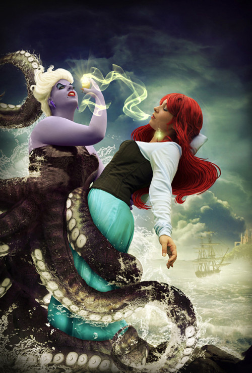 durnesque:  Cool photo-manip by Des-Henkers-Braut who is also Ursula in this shot.