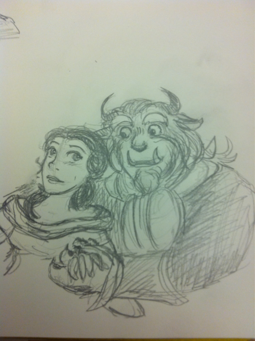 Fanart Friday part 4 Belle and the Beast because of Delightful Disney and its song countdown.  I think I may stop for now, I am ill and getting tired. Maybe I will keep doing this tomorrow though, it's kinda fun.