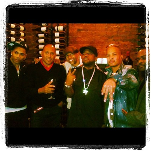 I love this pic! ~ Bet Kick off: Daddy Fat Saxxx Nelly T.I Kevin Lyles Frank Ski #atown ~ via @bigboi [WATCH: T.I.'s first interview since his release (9/30/11)]