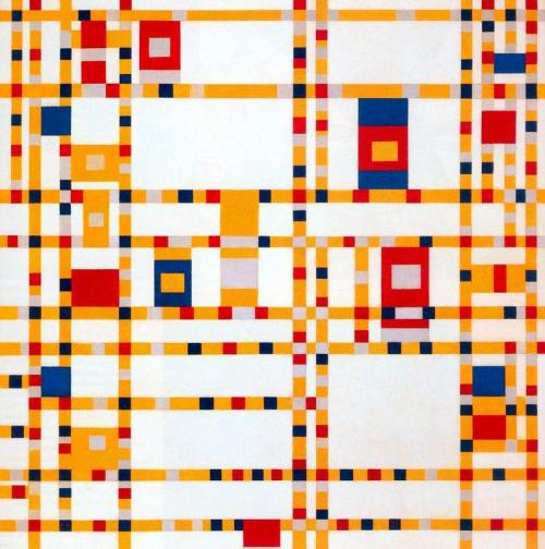julienfoulatier:  Painting by Piet Mondrian.  Broadway Boogie Woogie I love Mondrian's oeuvre, probably because I once wrote a research paper about him.