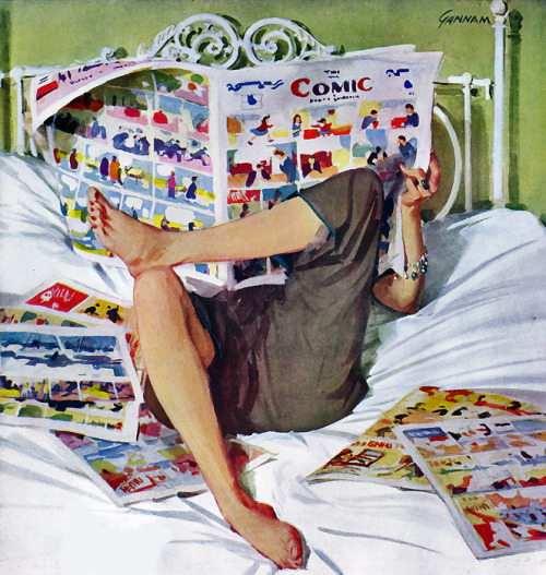 "colourbomb:  John Gannam, 1948  ""See you in the funny papers."""