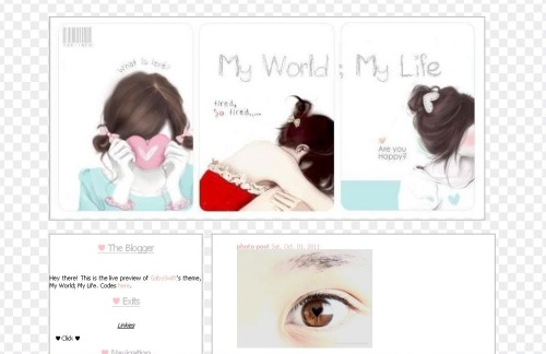 gabyswift:  My World; My Life Preview Code Converted and Tweaked by: GABYSWIFT
