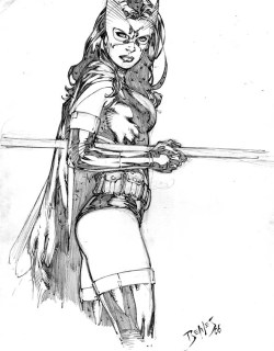 thehappysorceress:  Huntress by Ed Benes    Ed Benes' Huntress gets a reblog from me!