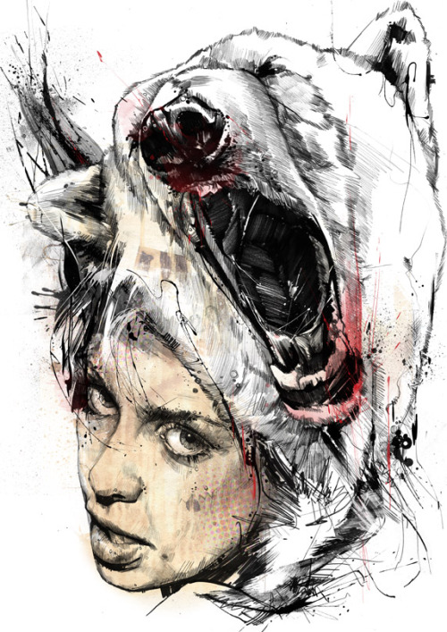 artforadults:  more russ mills, follow byroglyphics:  'Nata5' part 1