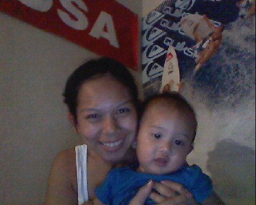 My baby love has a cold, so he's in no mood to take pictures :'(