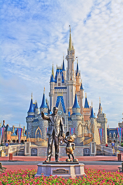 "40 Today, at 9am on October 1st, Walt Disney World celebrates its 40th Anniversary. For 40 years, ""The Vacation Kingdom of the World"" has created fond memories for hundreds of millions of people; so today, we salute you. I took this photo back in August 2010,  early in the morning before the Magic Kingdom was opened to all guests. This is one of my favorite places to photograph."