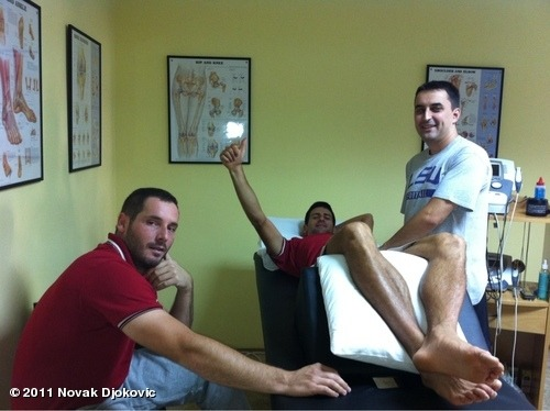 View more Novak Djokovic on WhoSay Hey guys, just having a theraphy with Miljan and Sale. Upravo sam na terapiji sa Miljanom i Saletom.