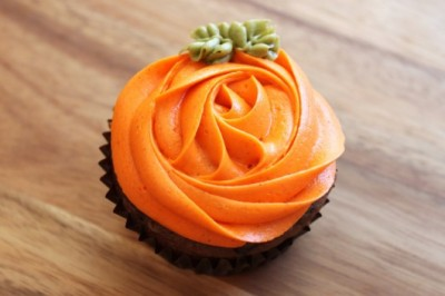 Chocolate Pumpkin Cupcakes…perfect for fall!
