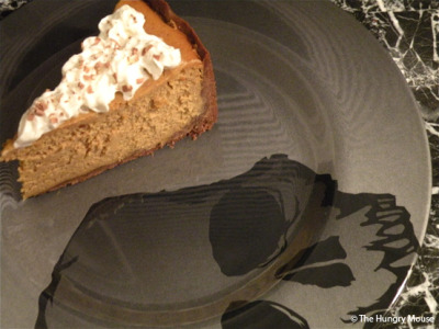 Brown Sugar Pumpkin Cheesecake makes me smile :)