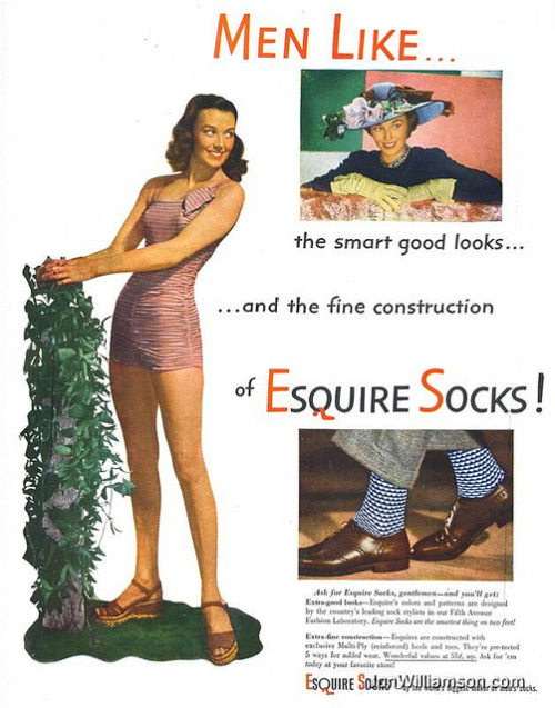 oldads:  Esquire Socks - 19480419 Life on Flickr.