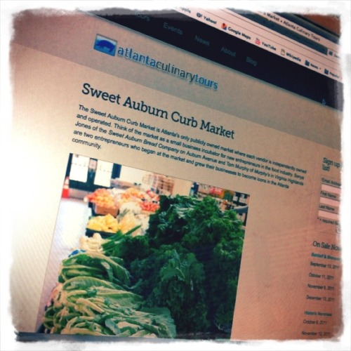 Excited to go on the sweet auburn curb market tour today! (@atlculinarytour)