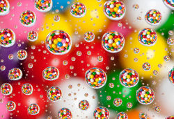 laughingsquid:  Candies Photographed in Water Drops