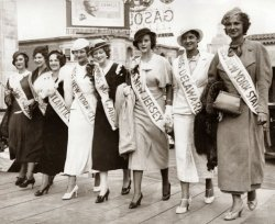 1933 Miss America Contestants.