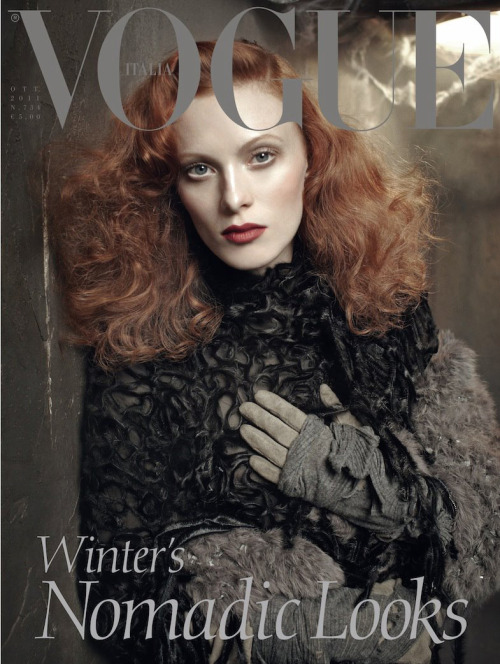 Vogue Italia October 2011 : Karen Elson by Steven Meisel This woman is too perfect