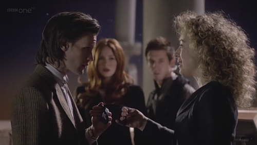 The Doctor: Please. Help me. There isn't another way.River: Then you may kiss the bride.The Doctor: I'll make it a good one.River: You better.