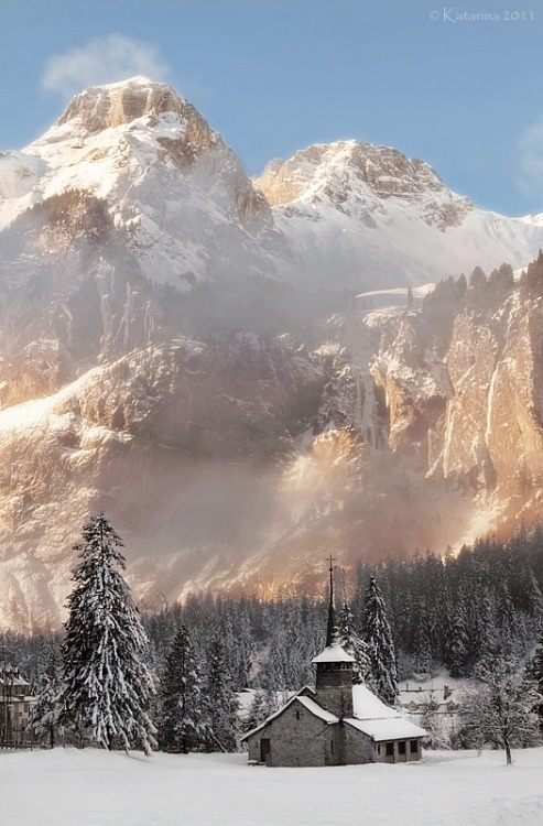 waterlilyjewels: Winter in Kandersteg, Switzerland via Winter wonderland - Photograph at BetterPhoto.com