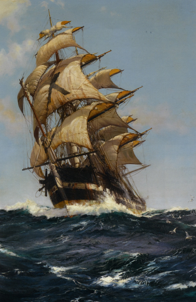 Montague Dawson (1895-1973)Crest of a WaveOil On Canvas