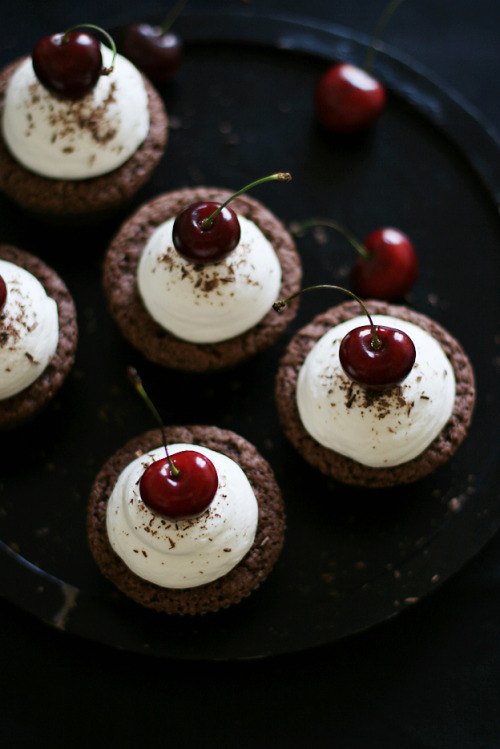Chocolate cherry cupcakes!