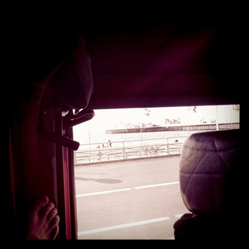 Missing tour. Waking up in my bunk in the van on Brighton seafront was awesome. Excuse my foot.