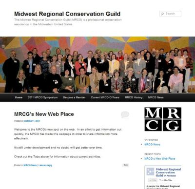 "Check out the new web page I made for the MRCG!   True, it's pretty basic, but it's a start and has information about the upcoming symposium, ""Conservation Principles on Exhibition Design,"" which will be led by Stephen Weintraub, Patricia Silence, and Cynthia Amnéus and hosted by the Toledo Museum of Art.  Looks like another good reason to get to Toledo! Spread the word, will ya?"