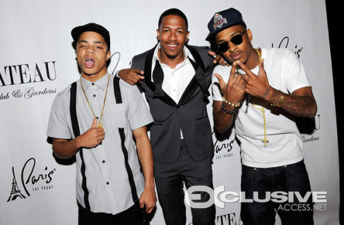Our manager Nick Cannon and us on the red carpet in Vegas. We gotta good feeling about this new team that were all building! *new shit coming soon