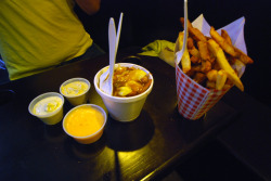 dawnstomach:  Belgian fries + Poutine, Pomme Frites, NYC
