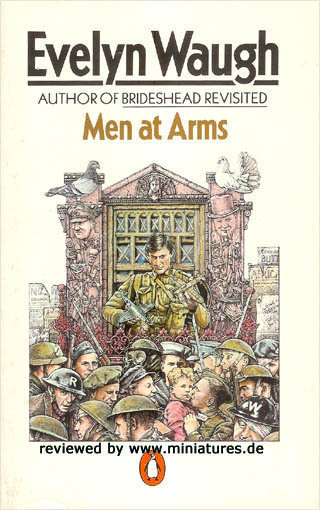 BOOK REPORT:  Men at Arms by Evelyn Waugh I'm far behind in my book reports so here is the first of a flurry of short and poorly thought through ones that are going to come your way. Men at Arms is the first part of Waugh's Sword of Honor trilogy dealing with the British experience in the World War 2.  The British experience is World War 2 is pretty much the best thing you could write a novel about, and Evelyn Waugh is, it has been well established, the apex of the classical novel writing tradition.  Which would mean this is statistically the best book ever written. Given that, it's pretty good.  The reason why the Brits in WW II is the best thing to write about is that you've got those very last vestiges of Victorian tradition coming into contact with a genuine threat.  That had previously happened in WWI, of course, but the result there was too muddled and inconclusive to actually destroy the old world and much of it hung around to ultimately be smashed by Hitler.  There is a fearsome enemy,  danger - it seemed very likely that the British would lose -, comedy in all the missteps that led the way to victory and in the end heroism and triumph all around while an old world gives up the ghost.    This book, the first of the trilogy focuses on the comedy and missteps while giving you a pretty good taste of the slowly mounting terror of the times.  It is pretty hilarious and pretty bleak.   I think you should read it. My other favorite books and movies about the British in World War 2: Bridge on the River Kwai (as near a perfect film as you'll find) End of the Affair (The Book) GUns of Navarone (The movie) Journey Into Fear (The movie and the book) The Ministry of Fear (ditto) Put Out More Flags