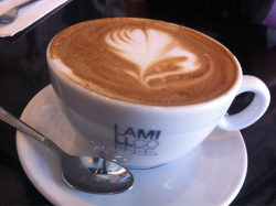 Coffee art at Lamill in Silverlake.