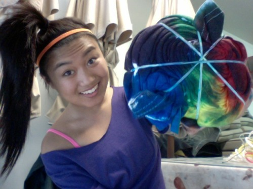 Tie-dying shirts like yeaaaah