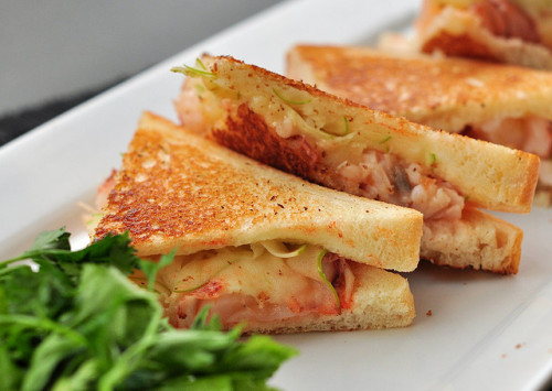 Lobster Grilled Cheese Sandwich by nicknamemiket on Flickr.