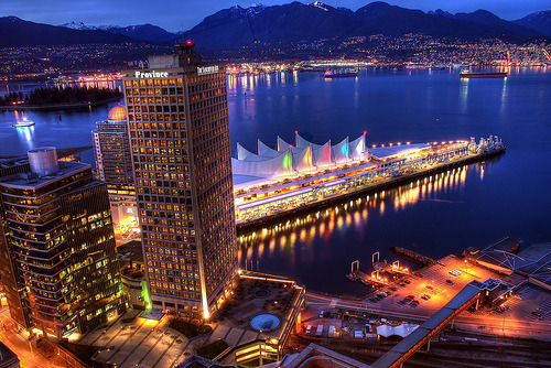 Vancouver Waterfront and the North Shore Mountains (HDR) (by Brandon Godfrey)