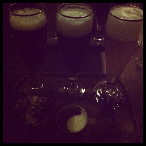Draft flight (Taken with Instagram at Schmidt's Deli)