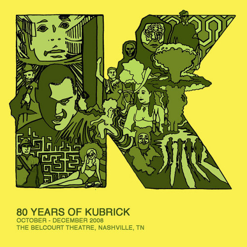 STANLEY KUBRICK FESTIVAL / illustration for the Belcourt Theatre by Sam's Myth
