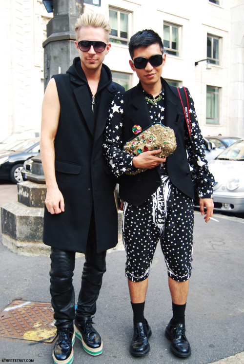 Kyle Anderson and Bryanboy at milan fashion week