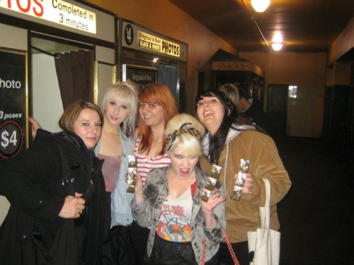 Me looking wild with the girls post motley crue, pre club x!