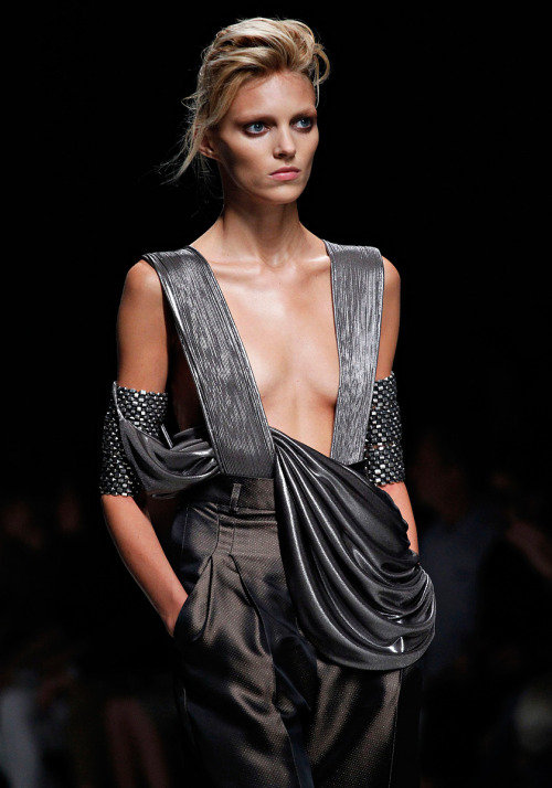 Anja Rubik at Haider Ackermann Spring 2012