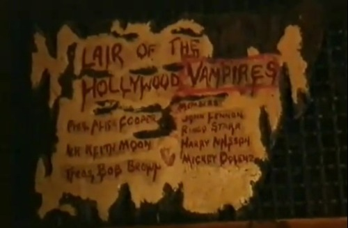 letsjustsaysolong:  Lair of the Hollywood VampiresRainbow Bar & Grill - W. Hollywood