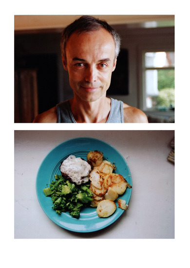 A photograph of Simon Maskell's breakfast (2007) by John Huck. Fuckin' a, what a delightful breakfast. A milestone of life accomplishment is when I can have a daily breakfast like this. I need to get my shit together.