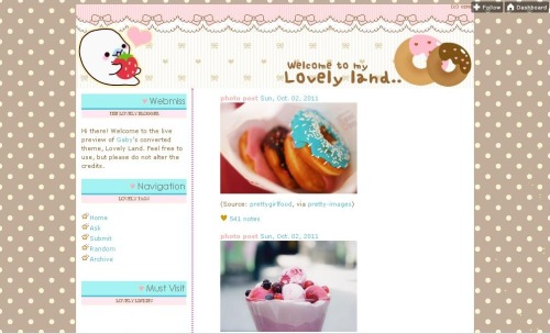 gabyswift:  Lovely Land Theme Preview Code Converted and Modified by: G A B Y S W I F T