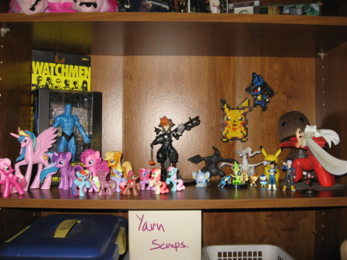 Nerd shelf! Only about half of what I own but they're my favorites. -Topknot