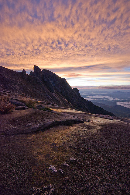 Fiery sunrise at Mt. Kinabalu I hope to climb this soon