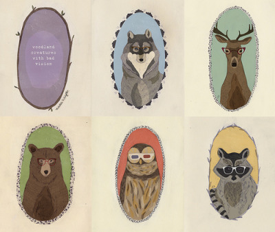 somnambulists:  woodland creatures with bad vision (by Nada Hayek)